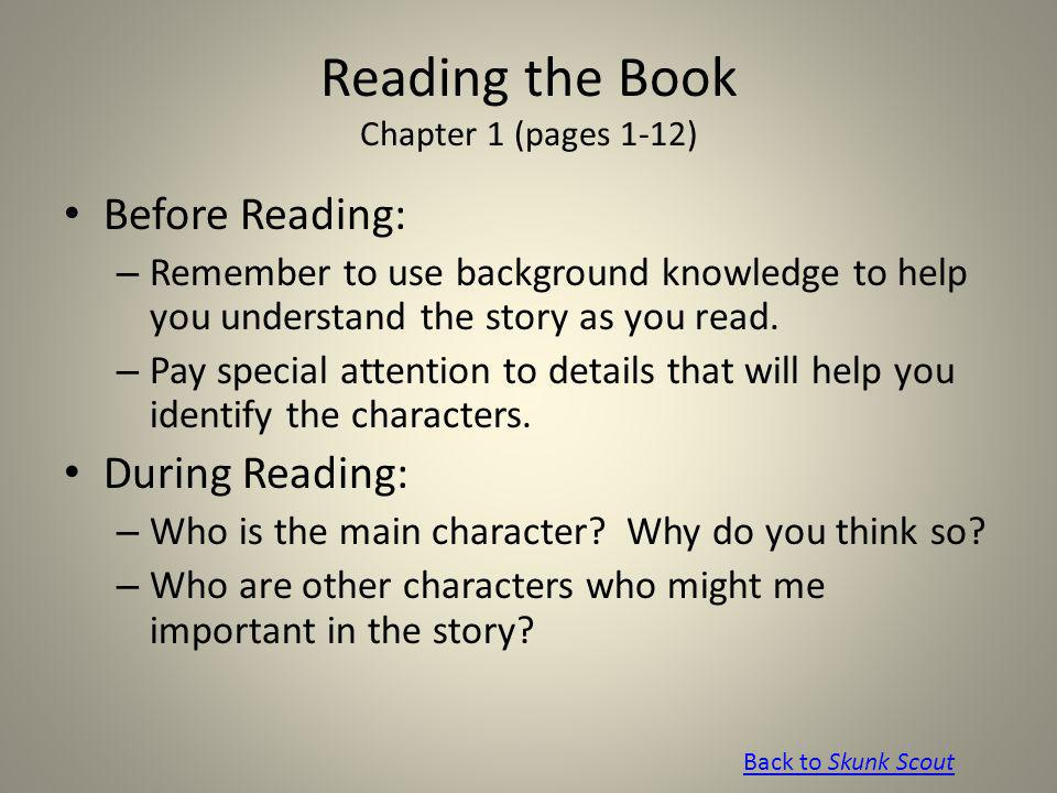 Reading the Book Chapter 1 (pages 1-12)