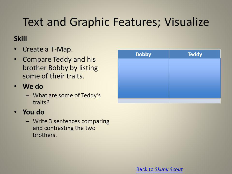 Text and Graphic Features; Visualize