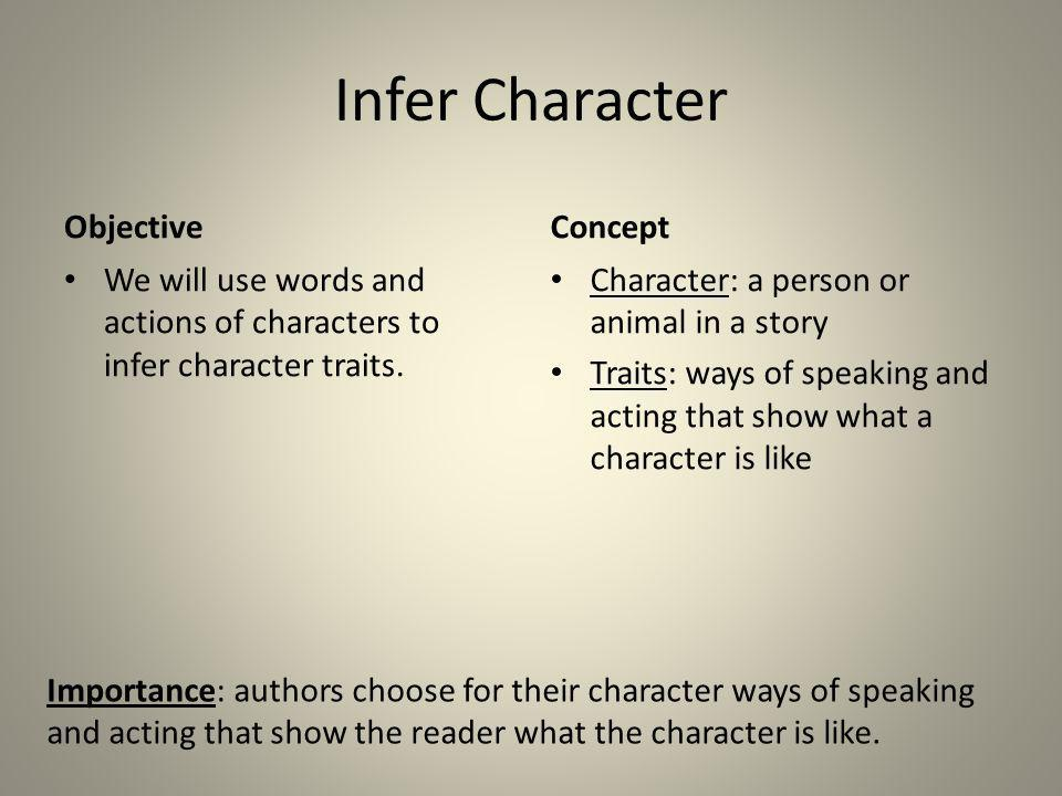 Infer Character Objective Concept