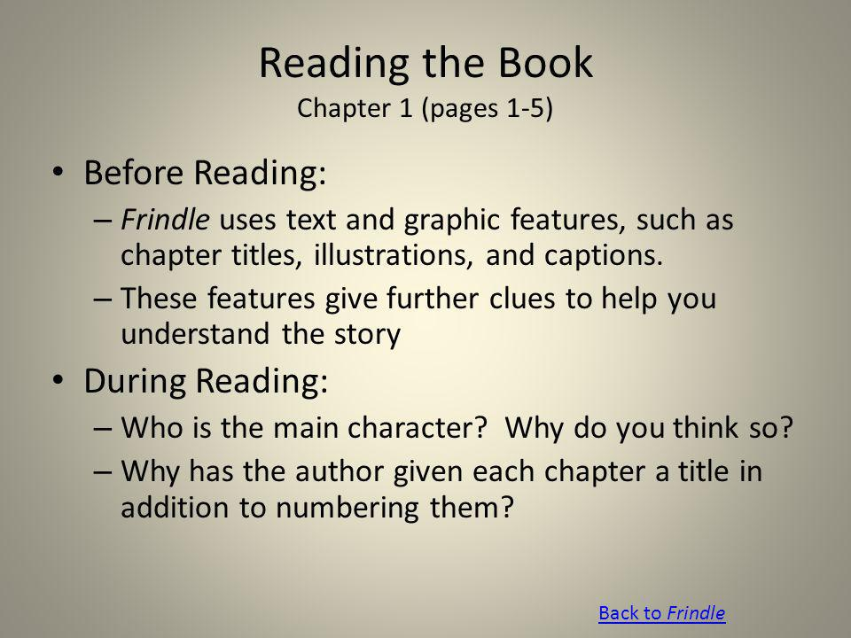 Reading the Book Chapter 1 (pages 1-5)