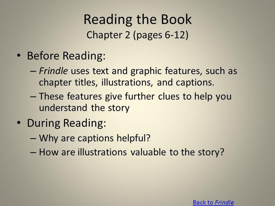 Reading the Book Chapter 2 (pages 6-12)