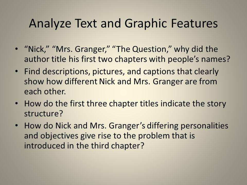 Analyze Text and Graphic Features