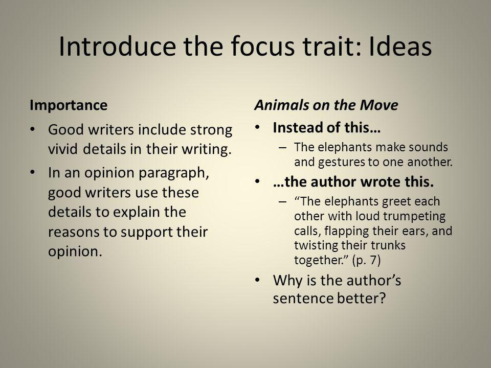 Introduce the focus trait: Ideas