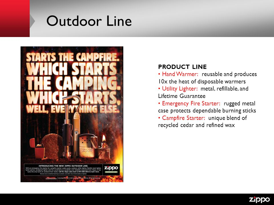 Outdoor Line PRODUCT LINE