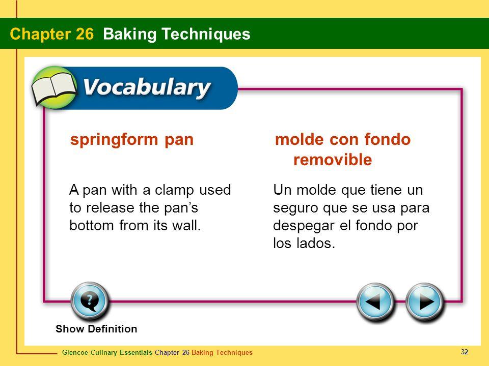springform pan molde con fondo removible