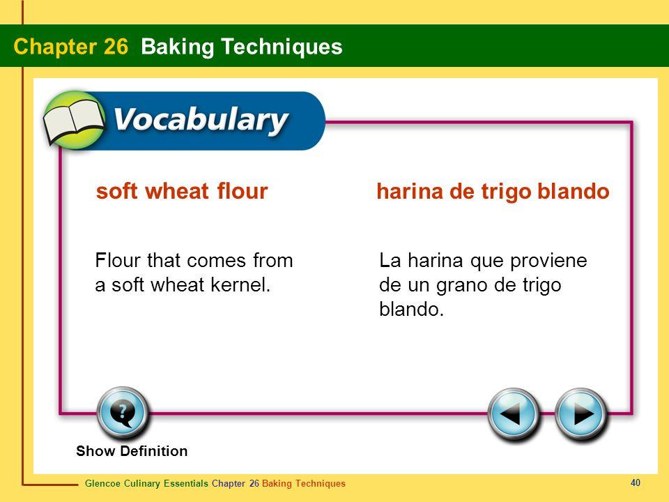 soft wheat flour harina de trigo blando