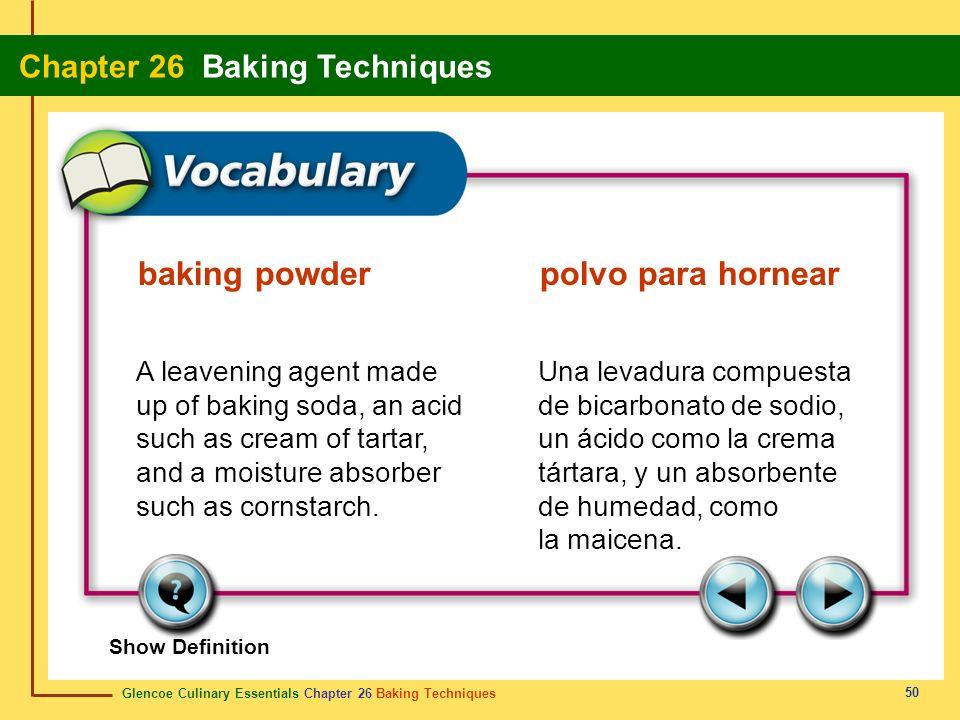 baking powder polvo para hornear