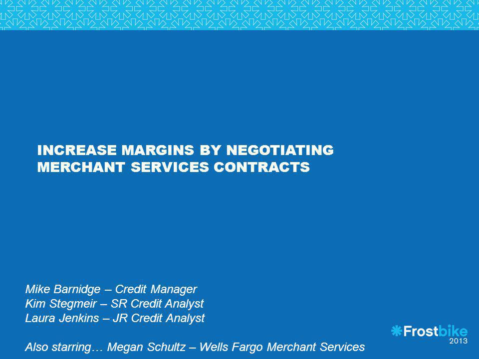 Increase Margins by Negotiating Merchant Services Contracts