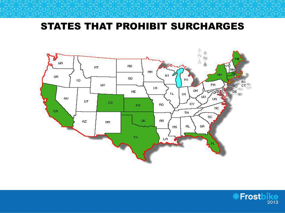 States that prohibit surcharges