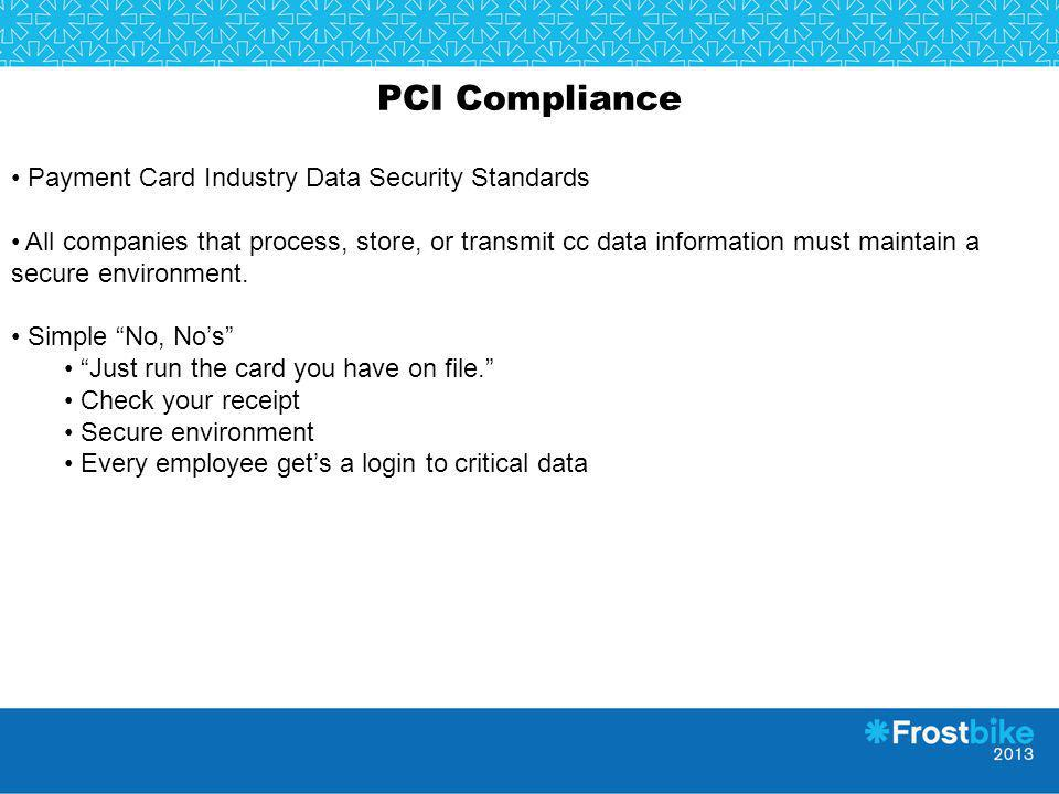 PCI Compliance Payment Card Industry Data Security Standards