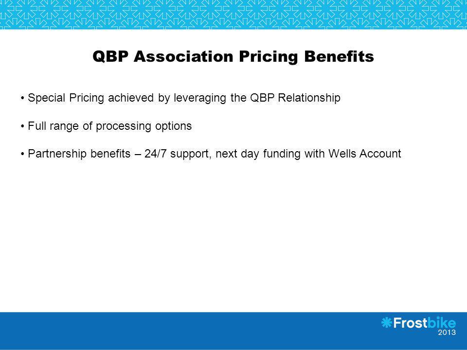 QBP Association Pricing Benefits