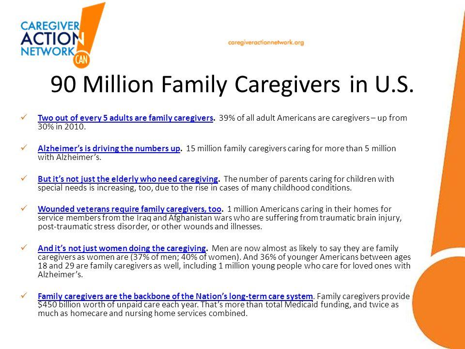 90 Million Family Caregivers in U.S.