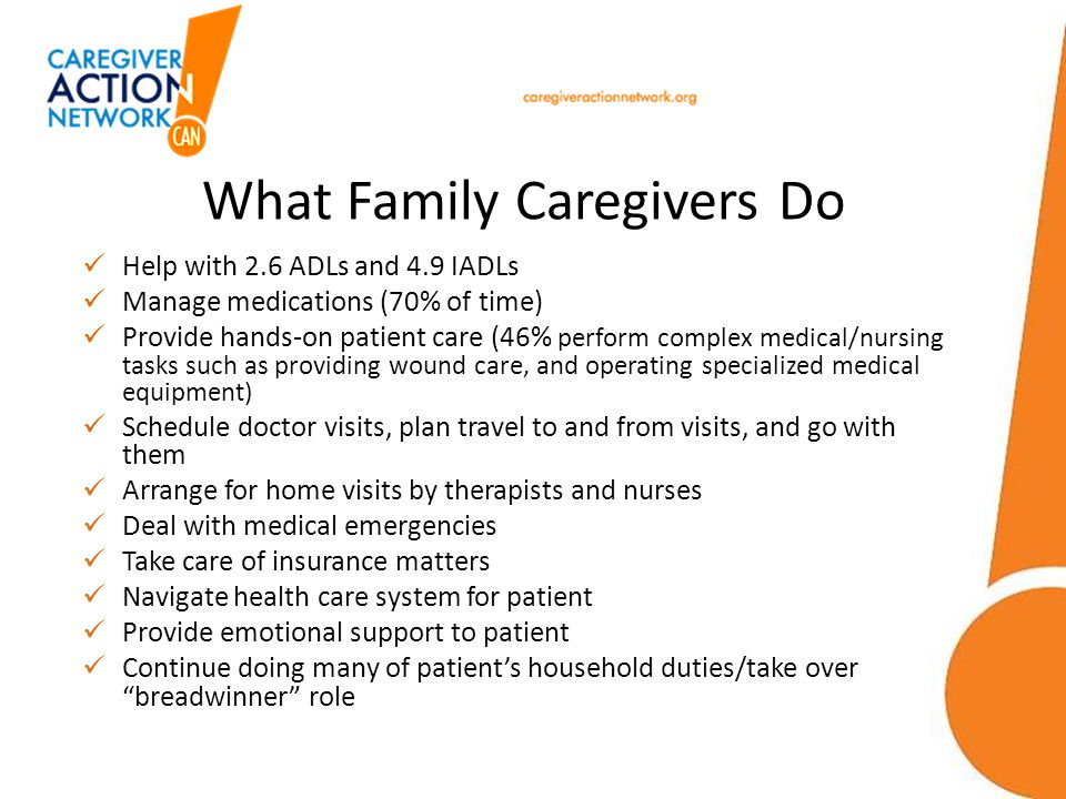 What Family Caregivers Do