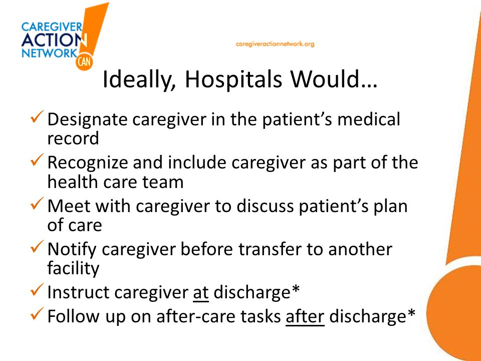 Ideally, Hospitals Would…