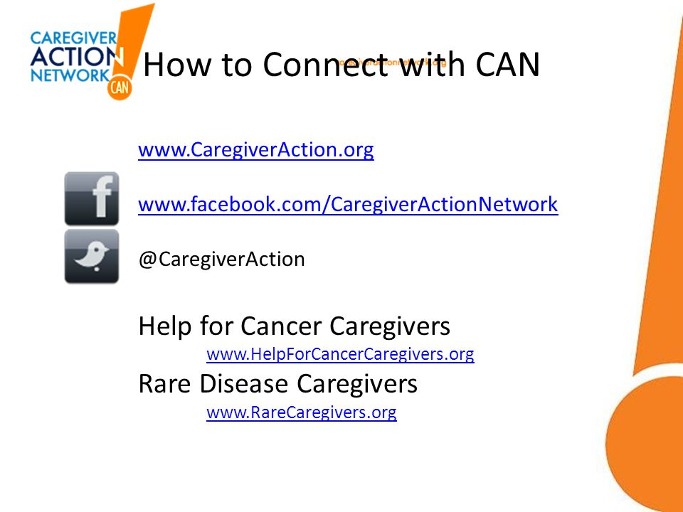 How to Connect with CAN Help for Cancer Caregivers