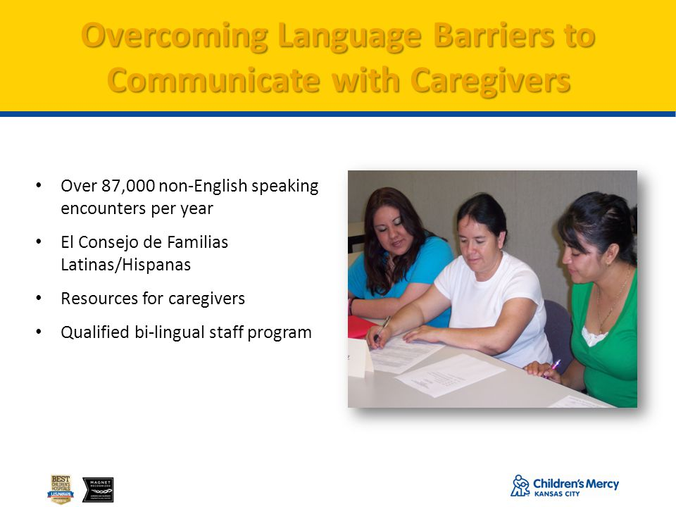 Overcoming Language Barriers to Communicate with Caregivers