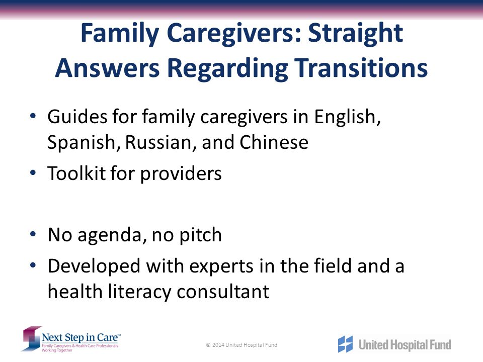 Family Caregivers: Straight Answers Regarding Transitions