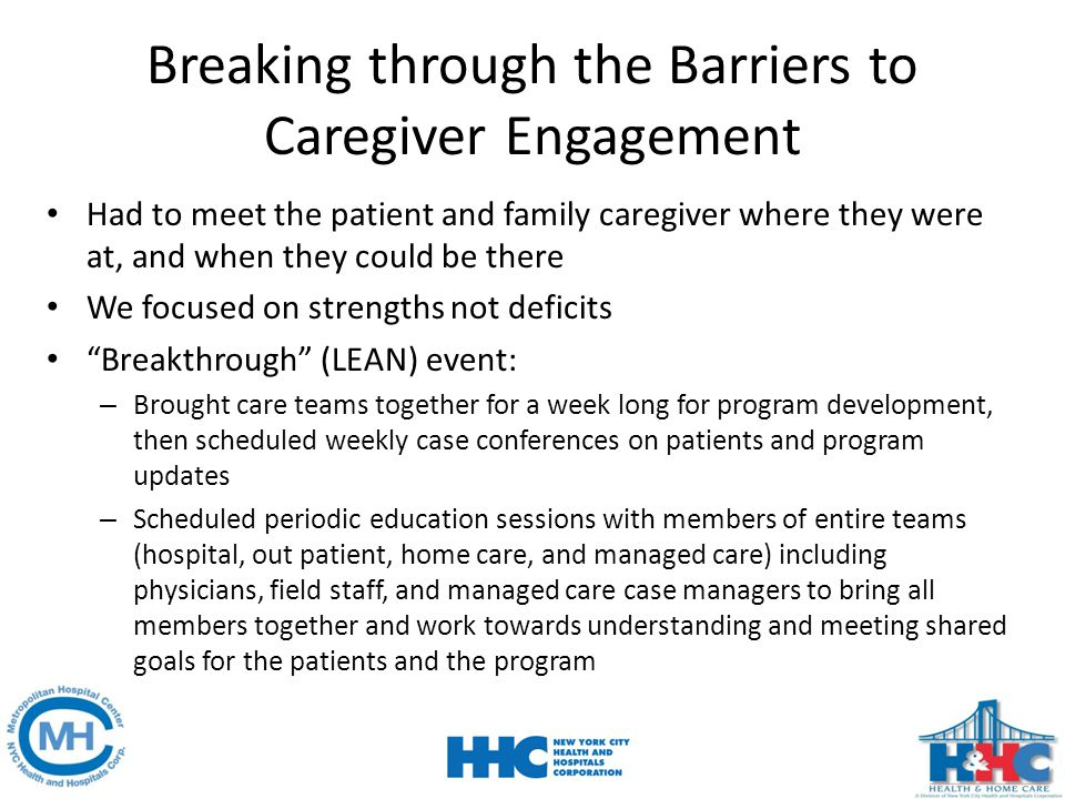 Breaking through the Barriers to Caregiver Engagement