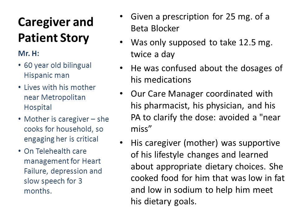 Caregiver and Patient Story