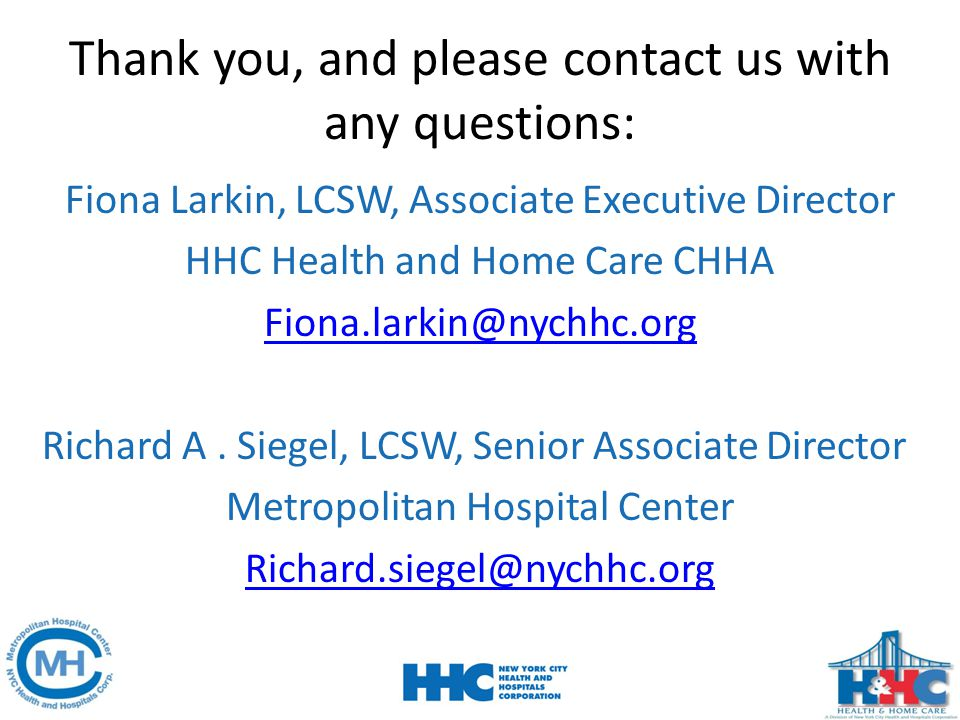Thank you, and please contact us with any questions:
