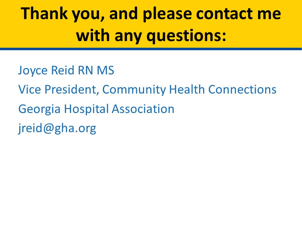 Thank you, and please contact me with any questions:
