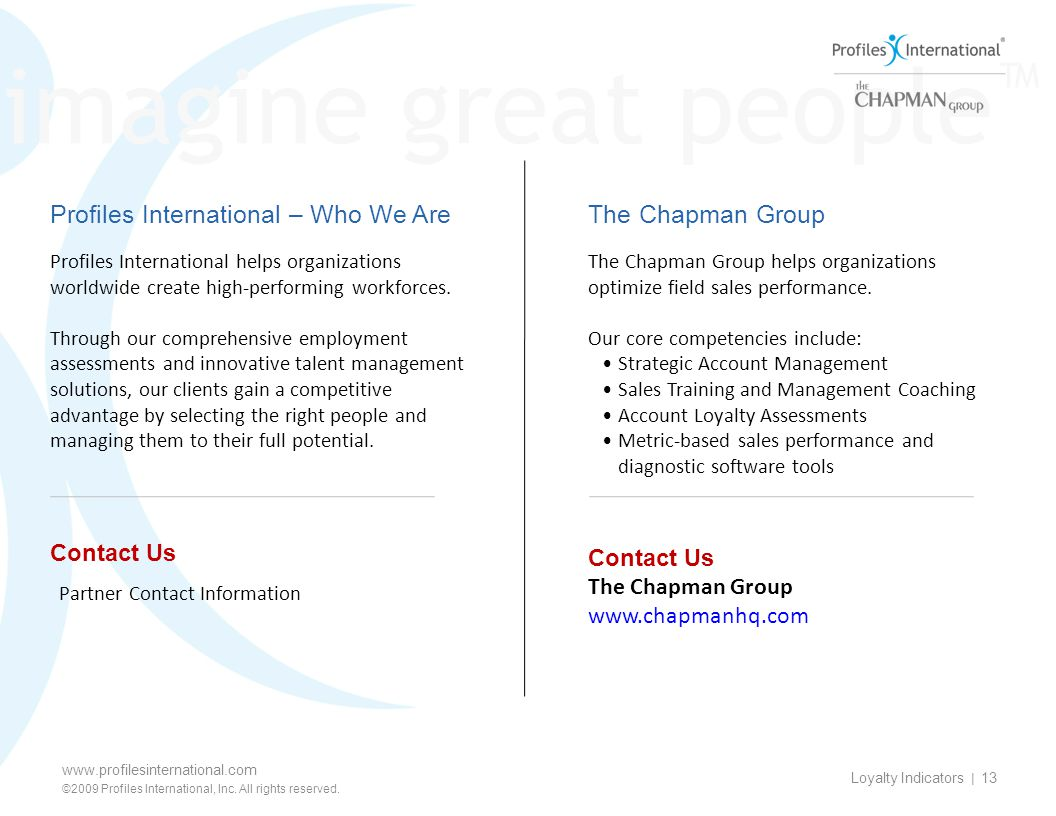 Contact Us The Chapman Group www.chapmanhq.com