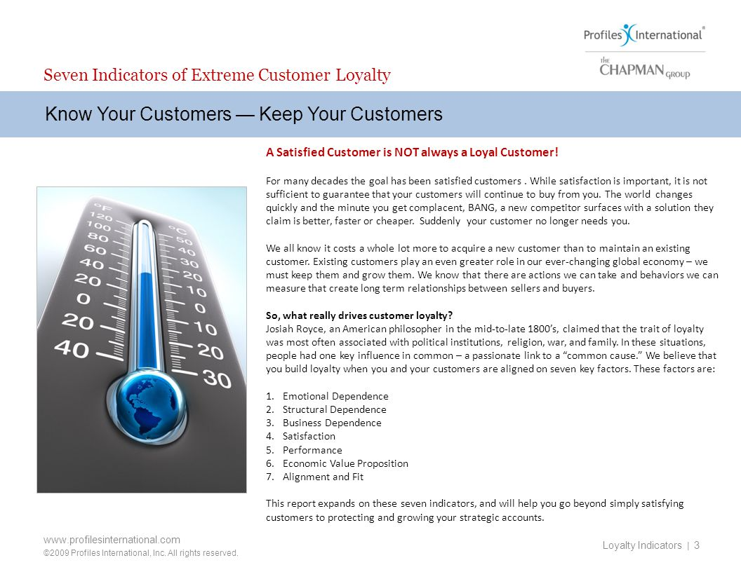 Seven Indicators of Extreme Customer Loyalty