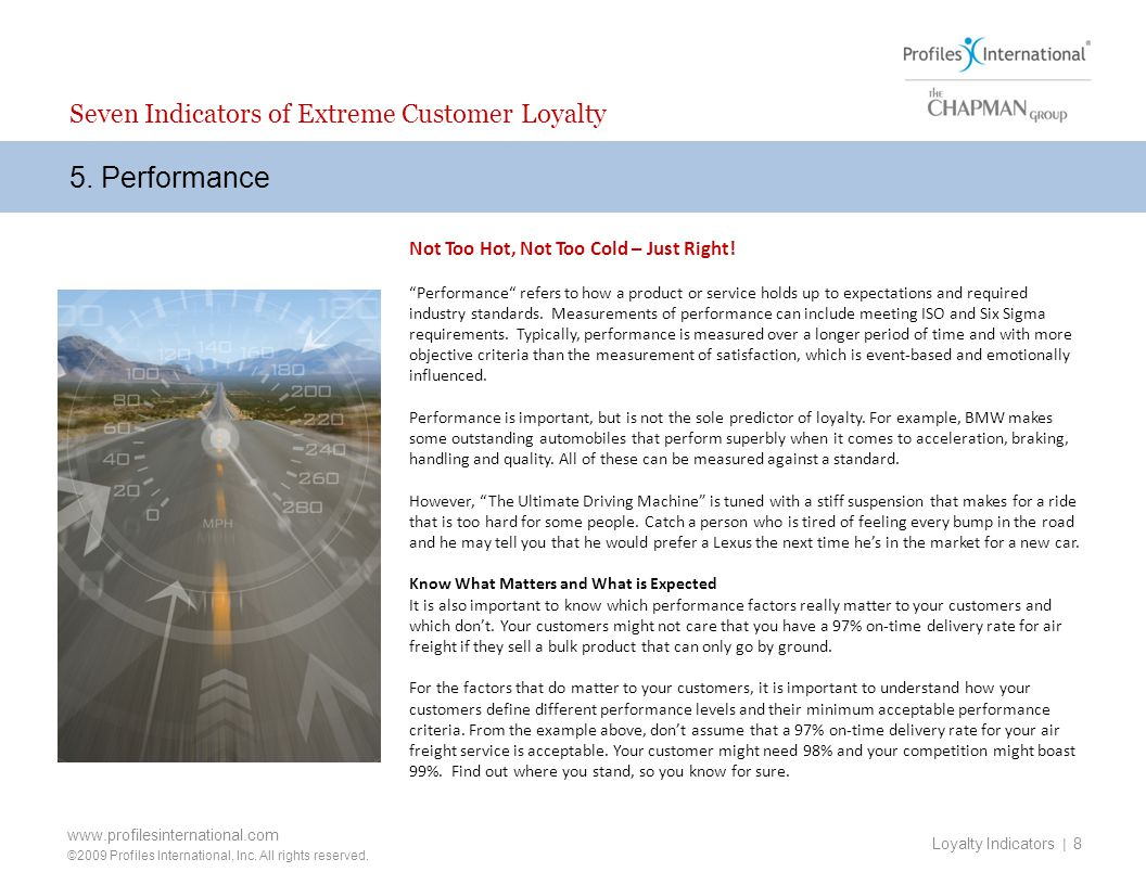 5. Performance Seven Indicators of Extreme Customer Loyalty
