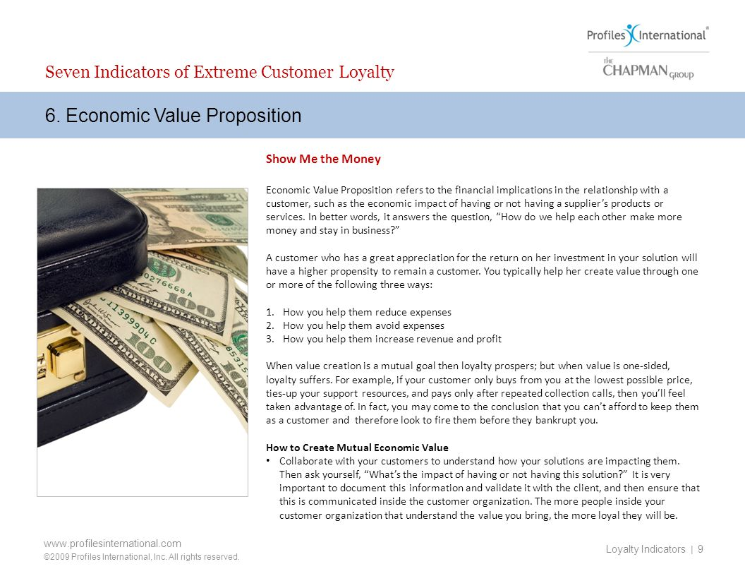 6. Economic Value Proposition