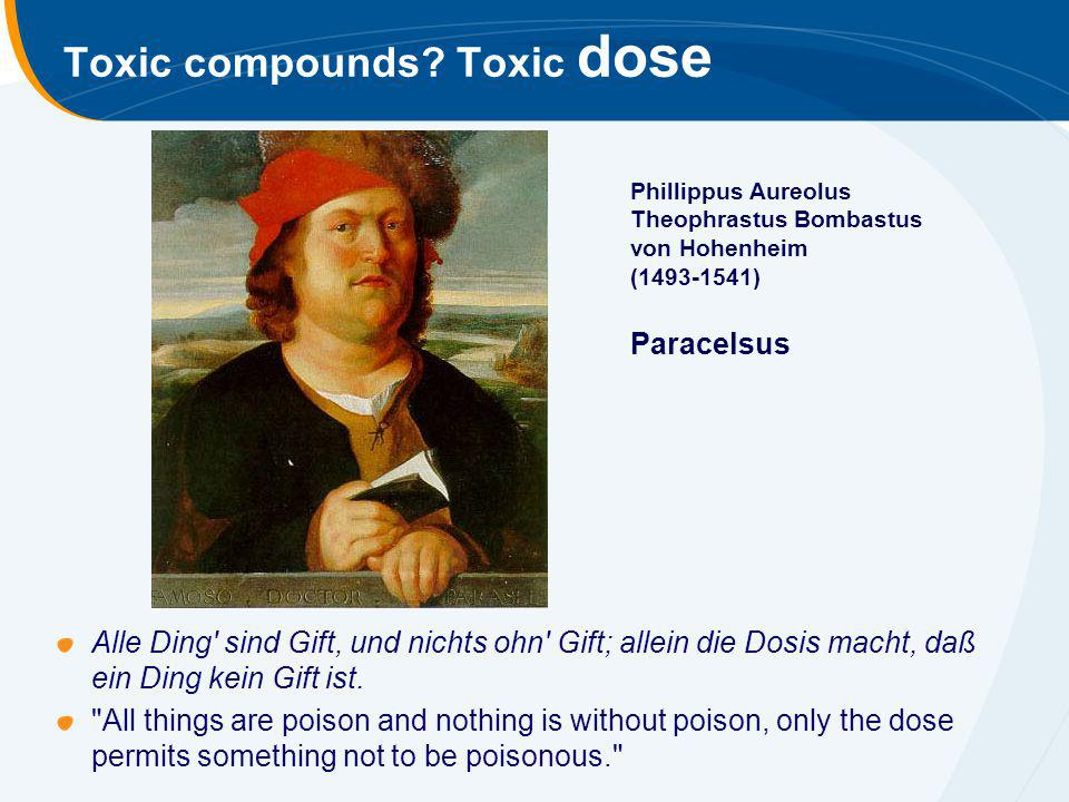 Toxic compounds Toxic dose