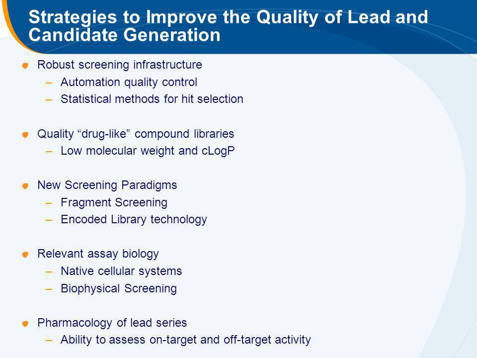 Strategies to Improve the Quality of Lead and Candidate Generation