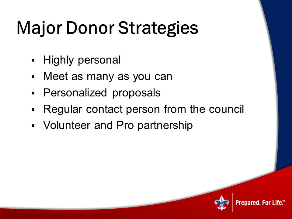 Major Donor Strategies