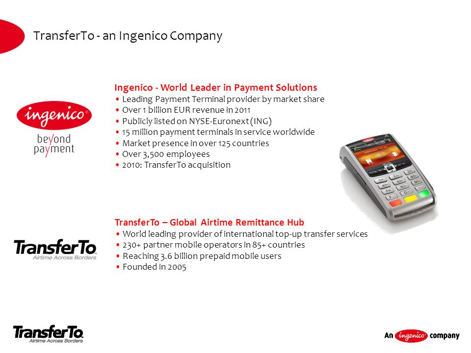 TransferTo - an Ingenico Company