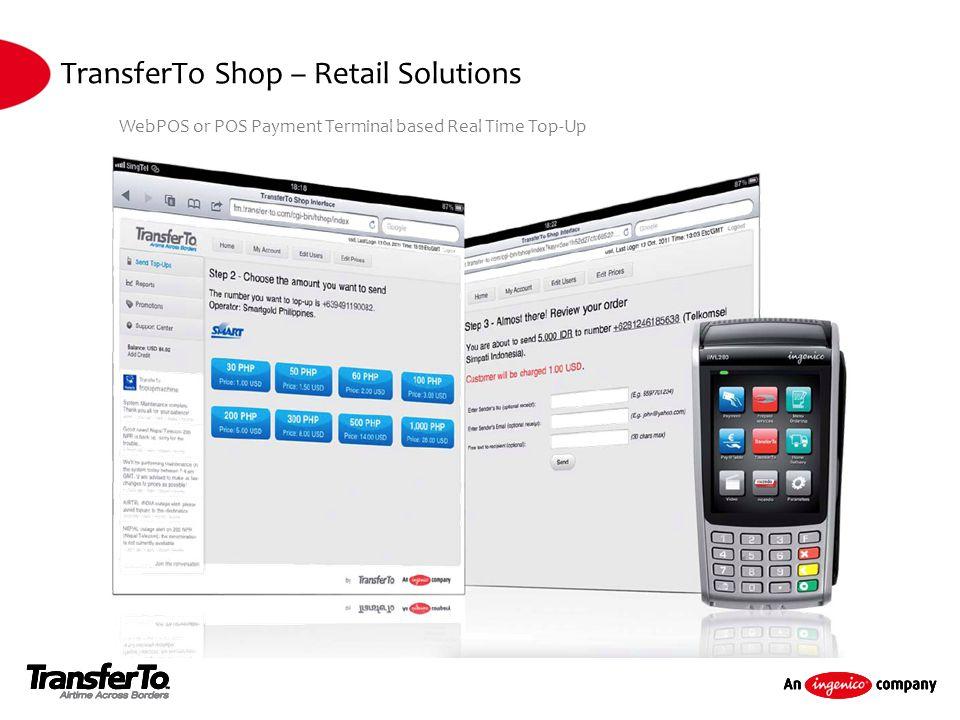 TransferTo Shop – Retail Solutions