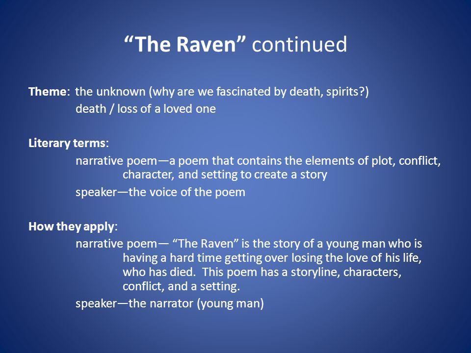The Raven continued