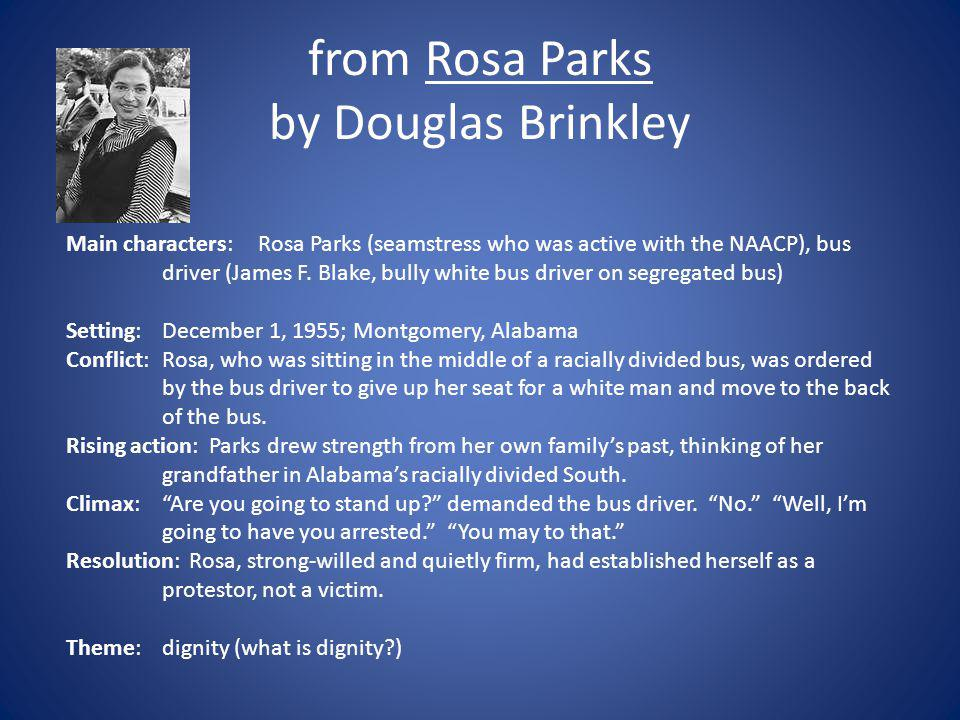 from Rosa Parks by Douglas Brinkley
