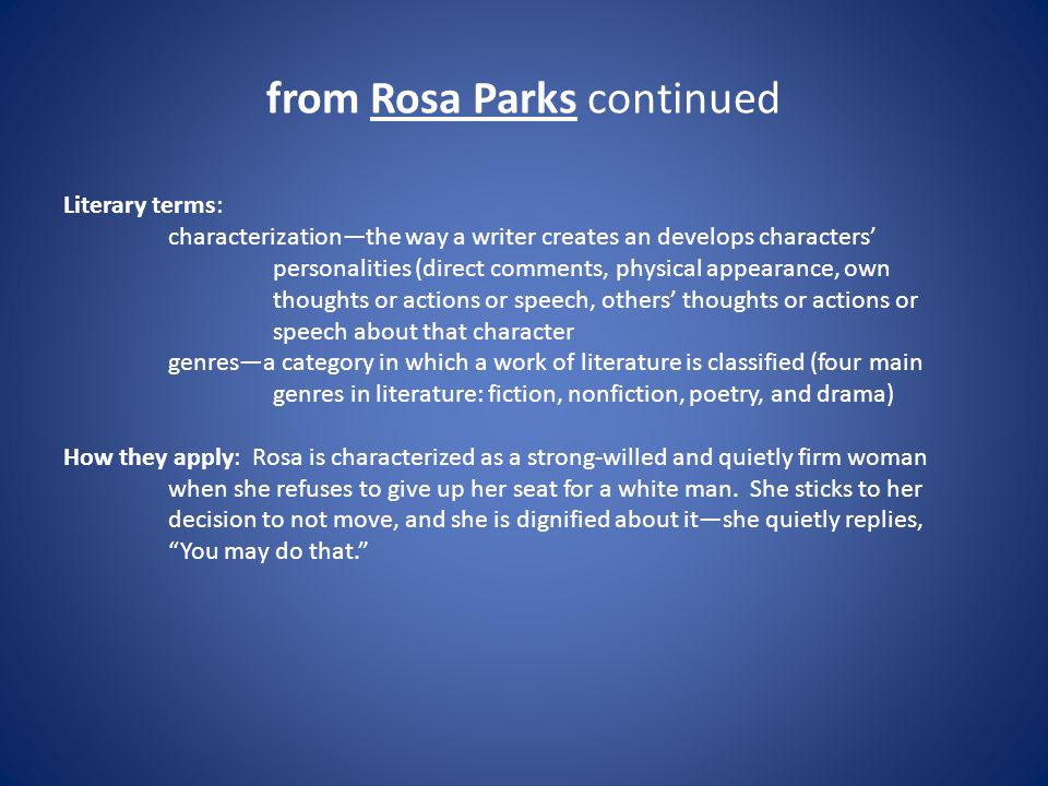 from Rosa Parks continued
