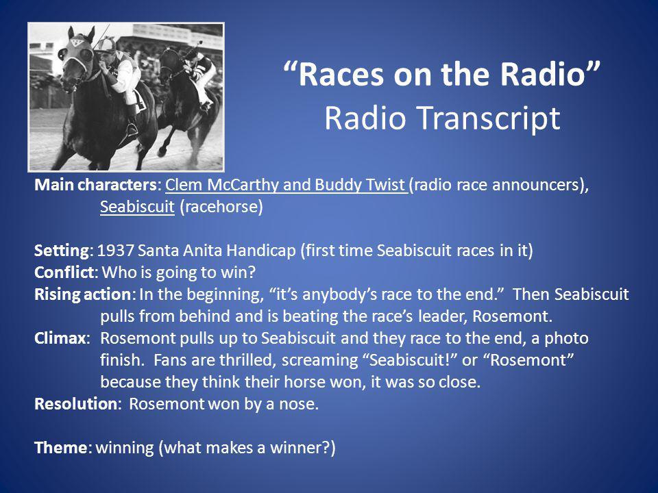 Races on the Radio Radio Transcript