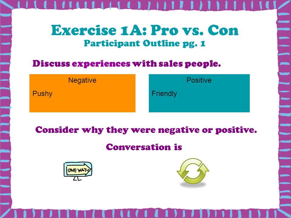 Exercise 1A: Pro vs. Con Participant Outline pg. 1
