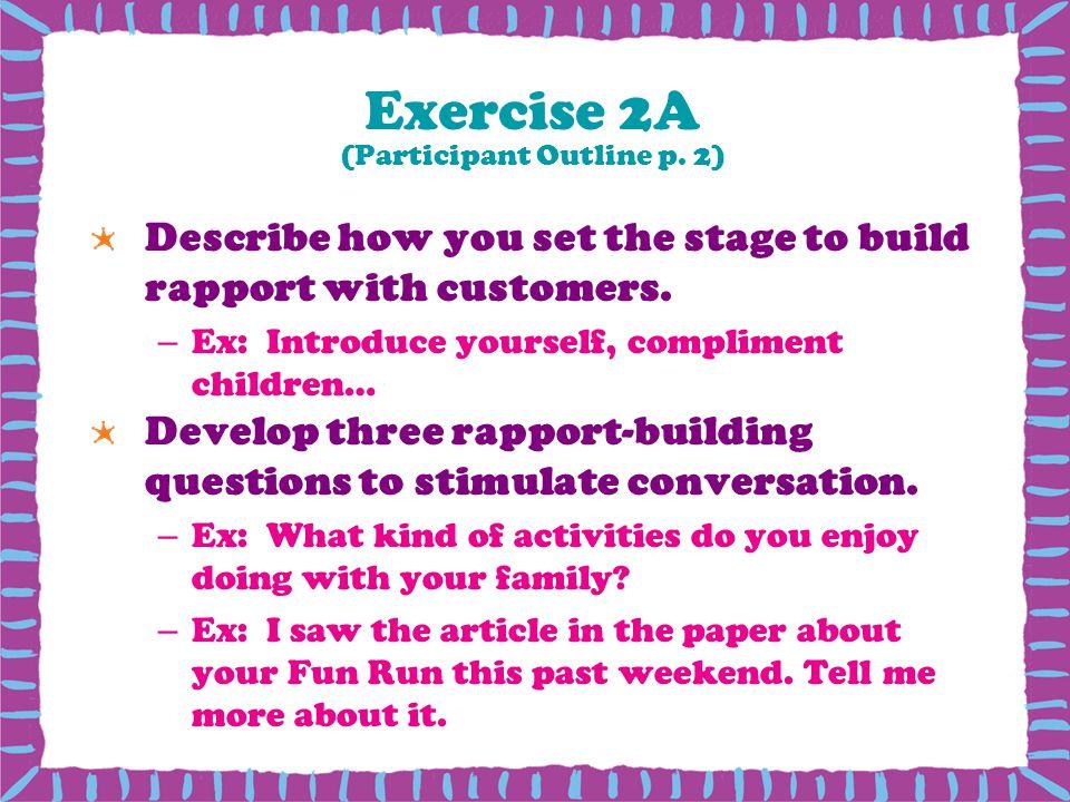 Exercise 2A (Participant Outline p. 2)