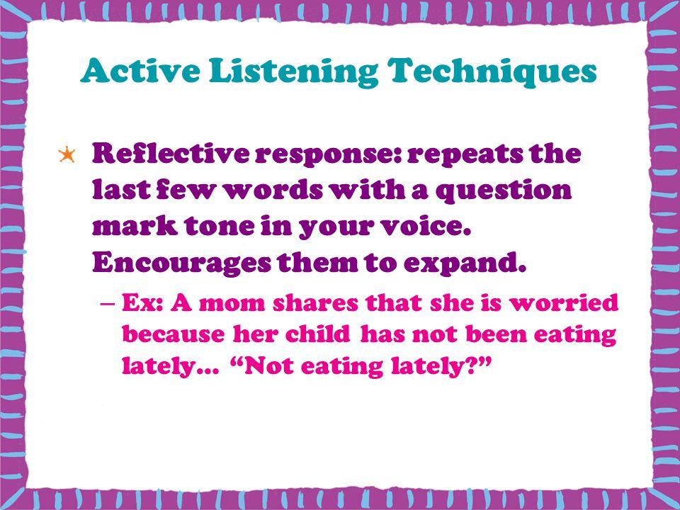 Active Listening Techniques
