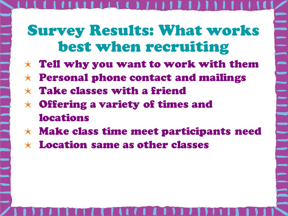 Survey Results: What works best when recruiting