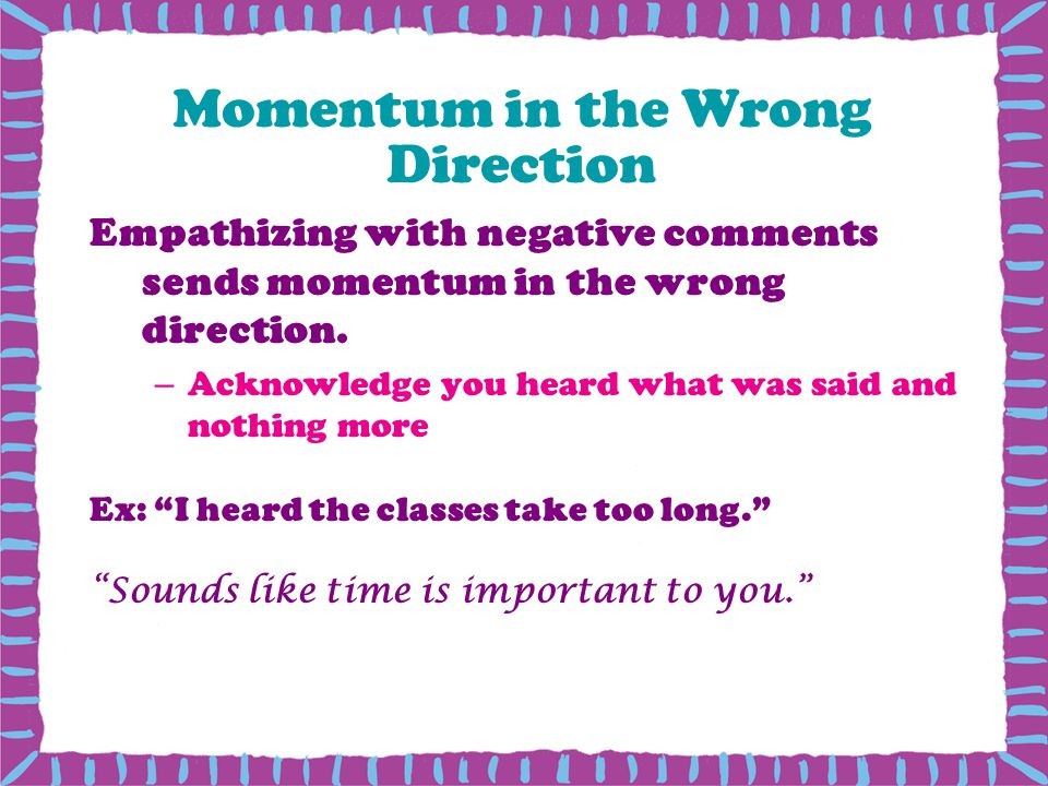 Momentum in the Wrong Direction