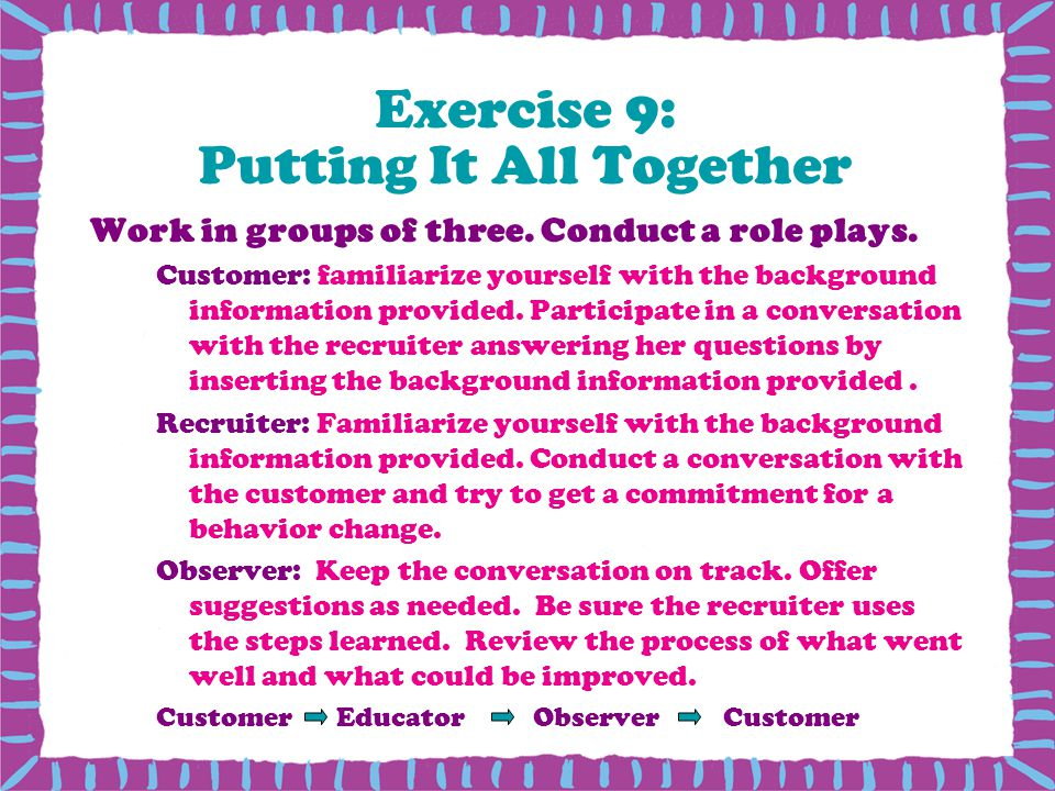 Exercise 9: Putting It All Together