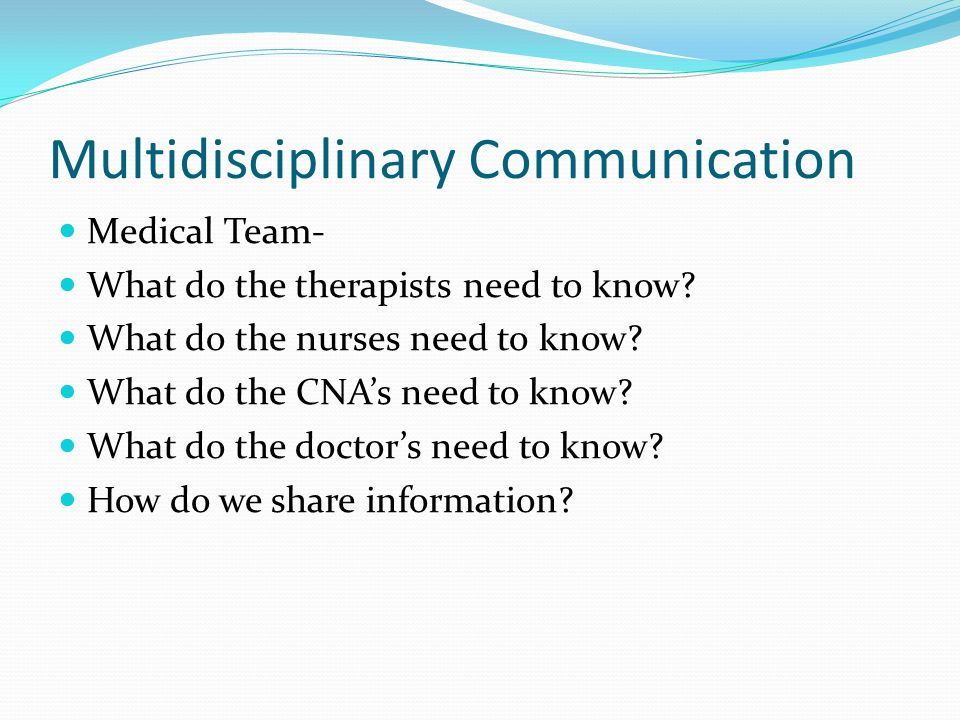 Multidisciplinary Communication