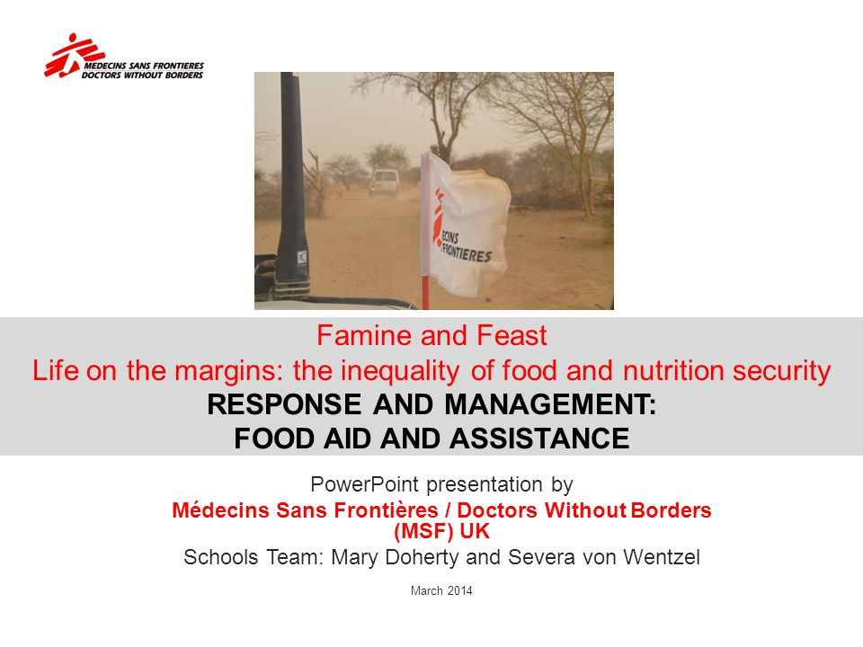 Médecins Sans Frontières / Doctors Without Borders (MSF) UK