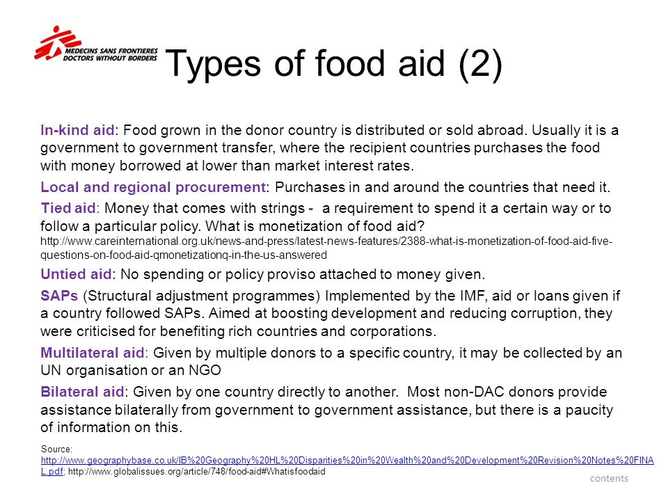 Types of food aid (2)