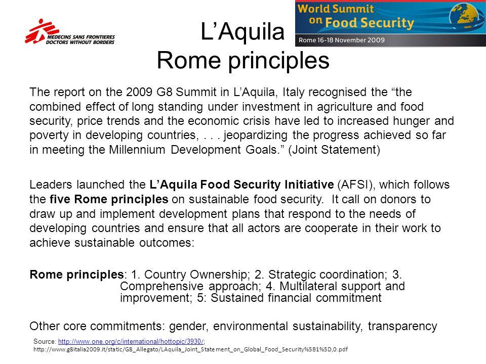 L'Aquila Rome principles