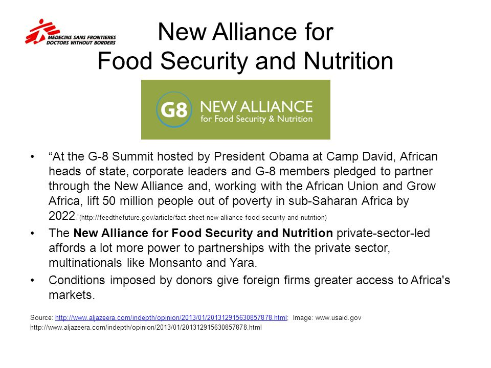 New Alliance for Food Security and Nutrition