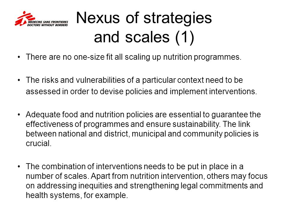 Nexus of strategies and scales (1)